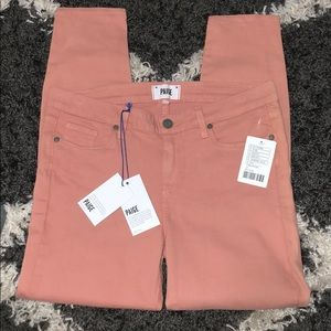 🌟NWT🌟PAIGE Crop Rose Jeans